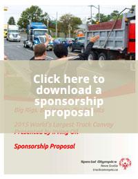 Sponsorship Proposal - Truck Convoy for Special Olympics Nova Scotia
